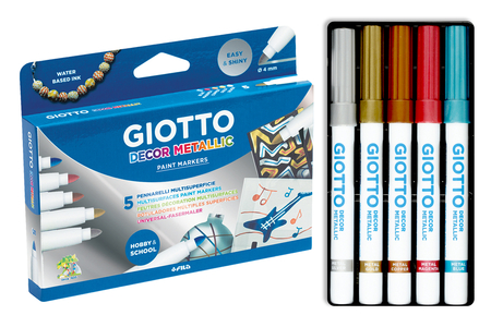 Marqueurs multi-supports GIOTTO DECOR - Feutres Larges – 10doigts.fr