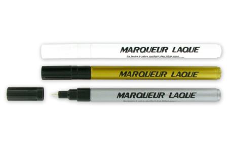 Marqueurs permanents métallisés or, argent ou blanc - Feutres Marqueurs Dessin – 10doigts.fr