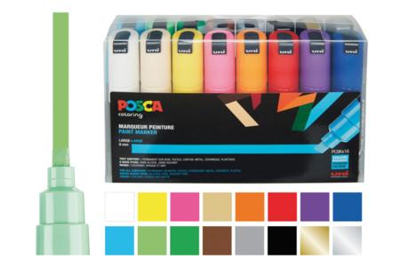 Marqueurs POSCA - couleurs vives - Marqueurs Posca – 10doigts.fr