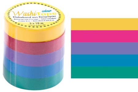 Masking tape - Couleurs vives - Masking tape (Washi tape) – 10doigts.fr