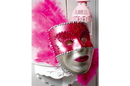 Masques à décorer avec peinture nacrée + stylo peinture 3D + plumes - Carnaval, fêtes, masques – 10doigts.fr