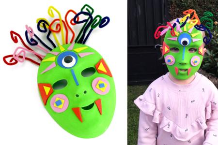 masque halloween enfant à décorer fabriquer - Tête à Modeler