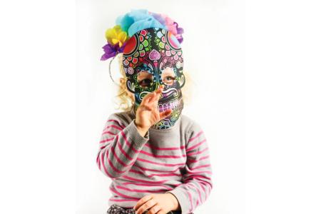 Masques à gratter tête de mort - Set de 4 - Mardi gras, carnaval – 10doigts.fr