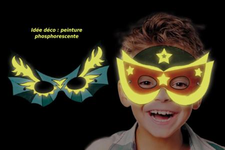 Masques super héros à décorer - Set de 4 - Mardi gras, carnaval – 10doigts.fr