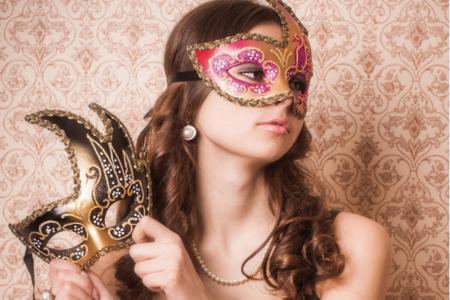 """Masque vénitien rigide forme """"asymétrique"""" - Masques – 10doigts.fr"""