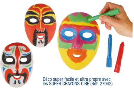 très convoité gamme de caractéristiques exceptionnelles nouveau authentique Masques blancs à décorer, qualité supérieure