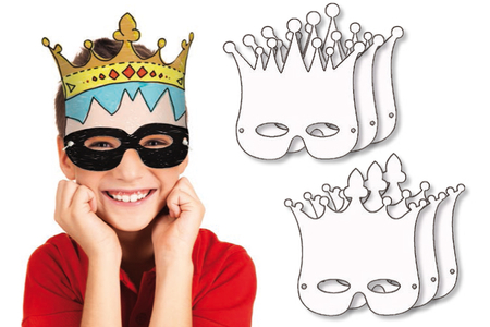 Masques Couronnes à colorier - Lot de 6 - Mardi gras, carnaval – 10doigts.fr