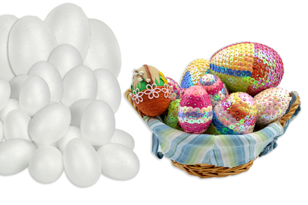 Maxi set oeufs en polystyrène - 62 oeufs - Formes de fêtes – 10doigts.fr