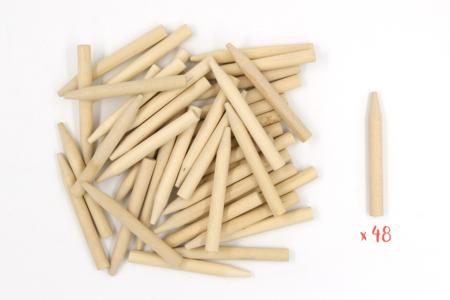 Maxi bâtonnets pour cartes à gratter - 48 pièces - Carte à gratter – 10doigts.fr
