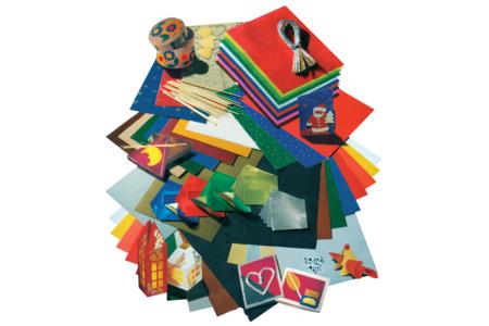 Assortiment géant de papiers et d'accessoires de Noël - Set de 198 - Papiers de fêtes – 10doigts.fr