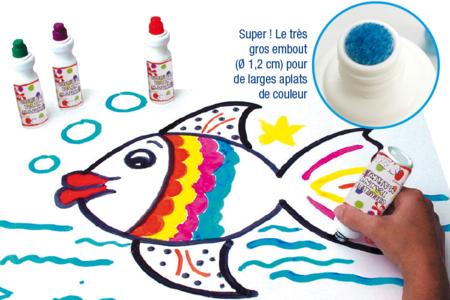 Dessiner avec des marqueurs à gouache ou à encre - Activités enfantines – 10doigts.fr