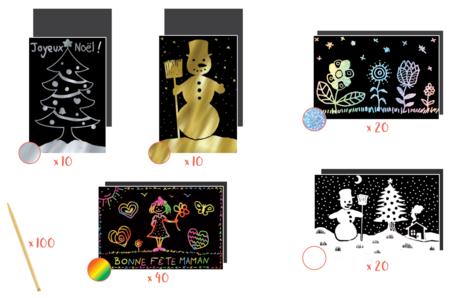 Maxi pack Cartes à gratter - 100 pièces - Carte à gratter – 10doigts.fr