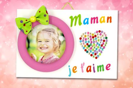 """Mini cadre """"Maman je t'aime"""" - Fête des Mères – 10doigts.fr"""