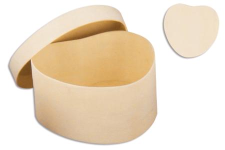 Boîte coeurs en bois 8 cm - Boîtes et coffrets – 10doigts.fr