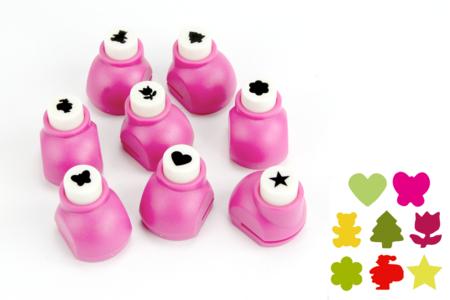 Minis Perforatrices - Set de 8 découpes assorties - Perforatrices fantaisies – 10doigts.fr