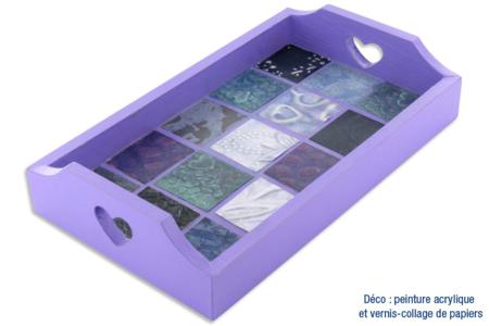 Mini-plateau papiers indiens en mosaïques - Boîtes, coffrets, plateaux – 10doigts.fr