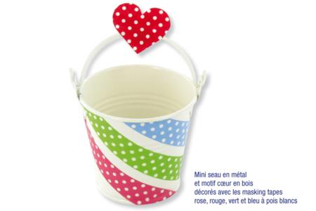 Mini seaux en métal - Déco de la maison – 10doigts.fr