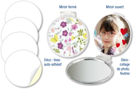 Miroir de sac à main - Miroir – 10doigts.fr