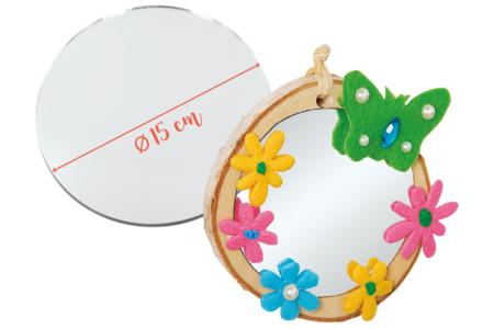 Miroir rond en verre - Miroirs – 10doigts.fr
