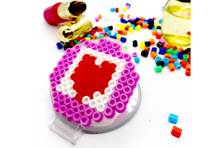 Miroir déco perles à repasser - Activités enfantines – 10doigts.fr
