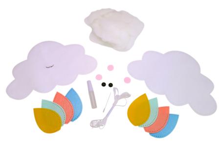 Kit mobile nuage en feutrine - Kit Mercerie – 10doigts.fr