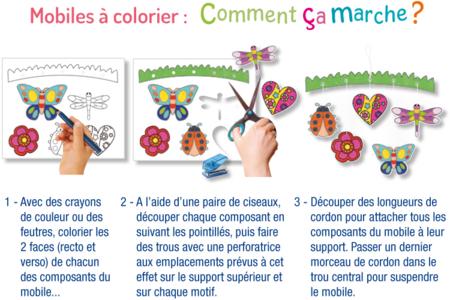 Mobiles Noël, à colorier - Lot de 4 - Support pré-dessiné – 10doigts.fr