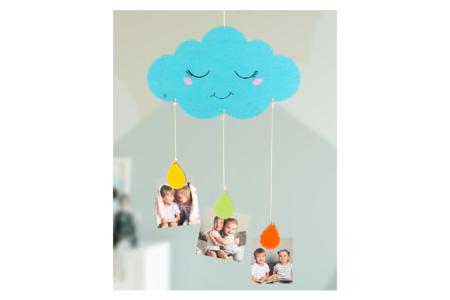 Mobile nuage porte-photos - Activités enfantines – 10doigts.fr