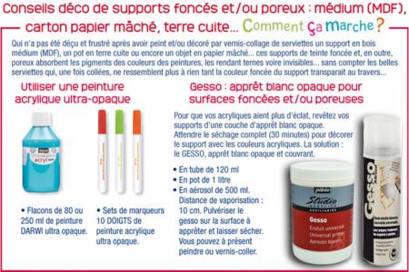 Gesso : Apprêt blanc prêt à l'emploi - Apprêt - Gesso – 10doigts.fr