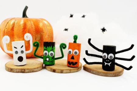 Monstres d'Halloween en bouchons - Halloween – 10doigts.fr