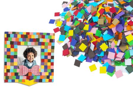 Mosaïques en carte forte - 5000 pièces - Mosaïques papiers – 10doigts.fr