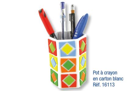 Pots à crayons déco mosaïques en caoutchouc souple auto-adhésif - Activités enfantines – 10doigts.fr