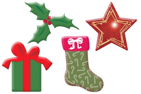 Motifs de Noël en bois décoré - Set de 8 - Motifs peint – 10doigts.fr