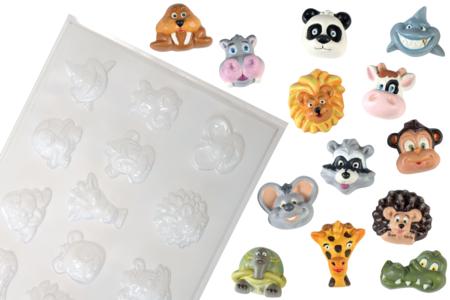 Moule 13 petits animaux - Moules – 10doigts.fr