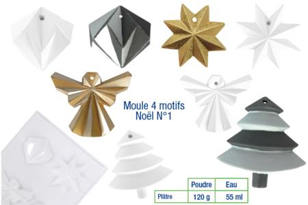 Moule suspensions de Noël - 4 motifs - Moules – 10doigts.fr