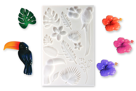 "Moule silicone ""Tropical""  - 14 motifs - Moules en silicone – 10doigts.fr"