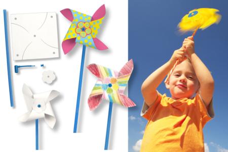 Moulins à vent à décorer - Kit pour 8 réalisations - Support blanc – 10doigts.fr