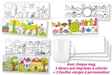 Mug à colorier - Activités enfantines – 10doigts.fr