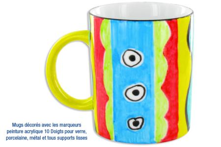 Mug en porcelaine façon africaine - Déco de la maison – 10doigts.fr