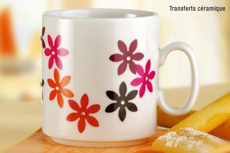 Mug en porcelaine déco collage papier spécial - Déco de la maison – 10doigts.fr
