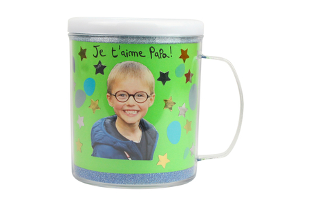 Mug à décorer - Transparent – 10doigts.fr