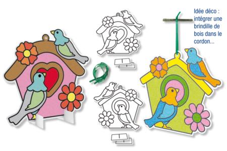 Nichoirs carte à sabler - Set de 2 - Sable coloré – 10doigts.fr