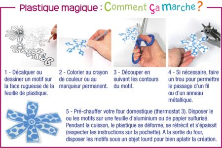 Plastique magique Opaque + mode d'emploi - Feuilles plastique magique – 10doigts.fr