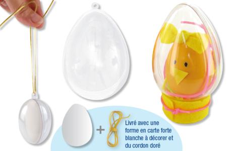 Oeuf en plastique transparent à suspendre - Oeufs – 10doigts.fr