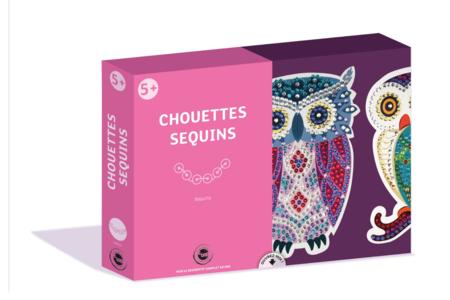 Coffret Sequin - Chouette et Hibou - Animaux – 10doigts.fr