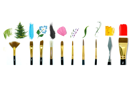 Kit Pinceaux et spatules - Set de 10 outils - Pinceaux – 10doigts.fr