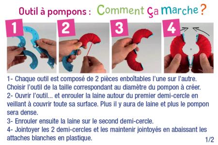 Outils pour fabriquer des pompons - Pompons – 10doigts.fr