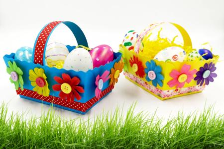 Paniers de Pâques fleuris - Pâques – 10doigts.fr