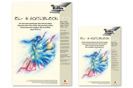 Papier blanc pour peinture acrylique et peinture à l'huile - Support blanc – 10doigts.fr