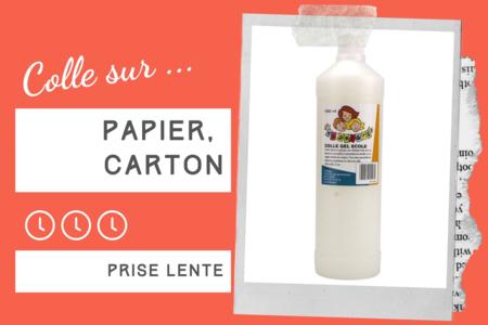 Colle Gel École 1 Litre - Sans solvant - Colles scolaires – 10doigts.fr