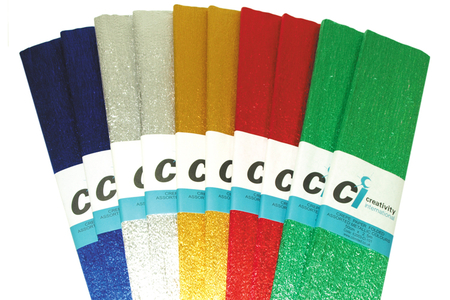 Papier crépon métallisé - Set de 10 feuilles - Papier crépon – 10doigts.fr
